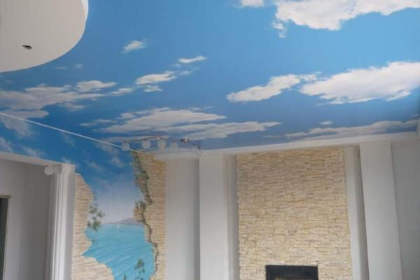 твое небо, установка натяжных потолков в сочи и адлере, сатиновые натяжные потолки, глянцевые, матовые, текстильные, цветные, фотопотолки